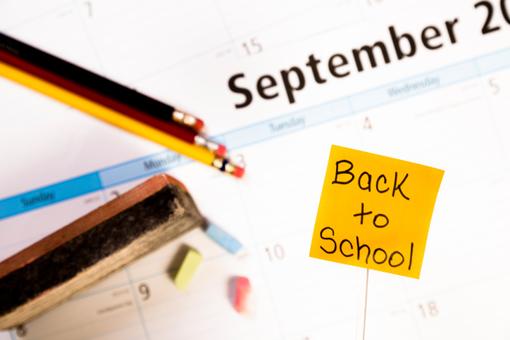 Si ritorna a scuola, calendario scolastico