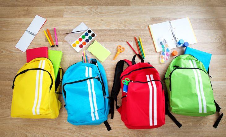 Zaini colorati per la scuola