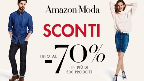 Amazon moda sconti fino al 70%