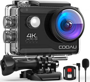Cooau Action cam HD 4K 20MP
