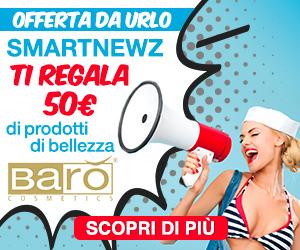 SmartnewZ ti regala 50€ di sconto in prodotti Barò Cosmetics.