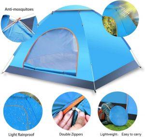 tenda da campeggio capienza tre persone